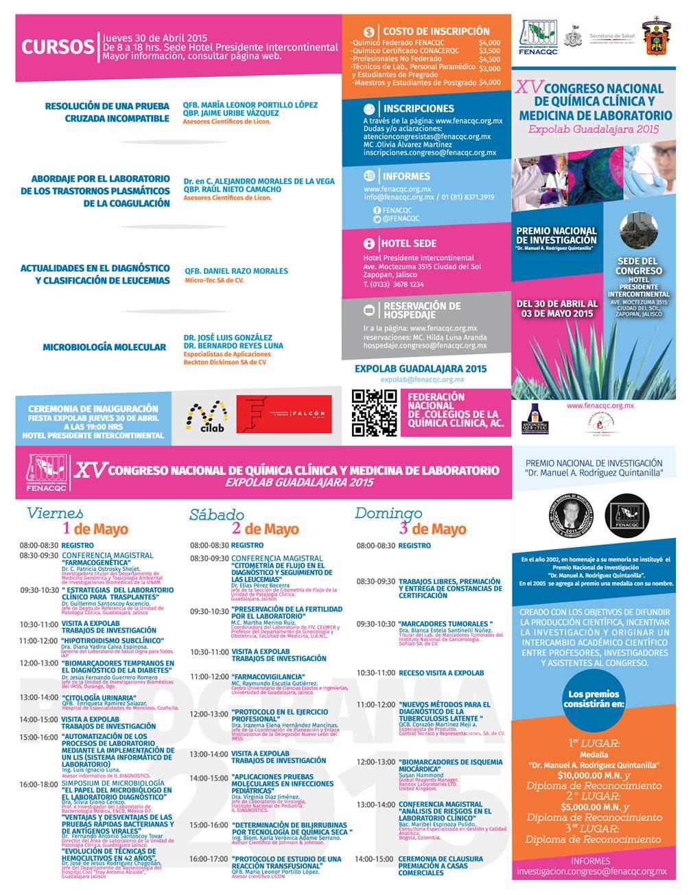 FENACQC | Congreso Guadalajara 2015 – Programa Académico